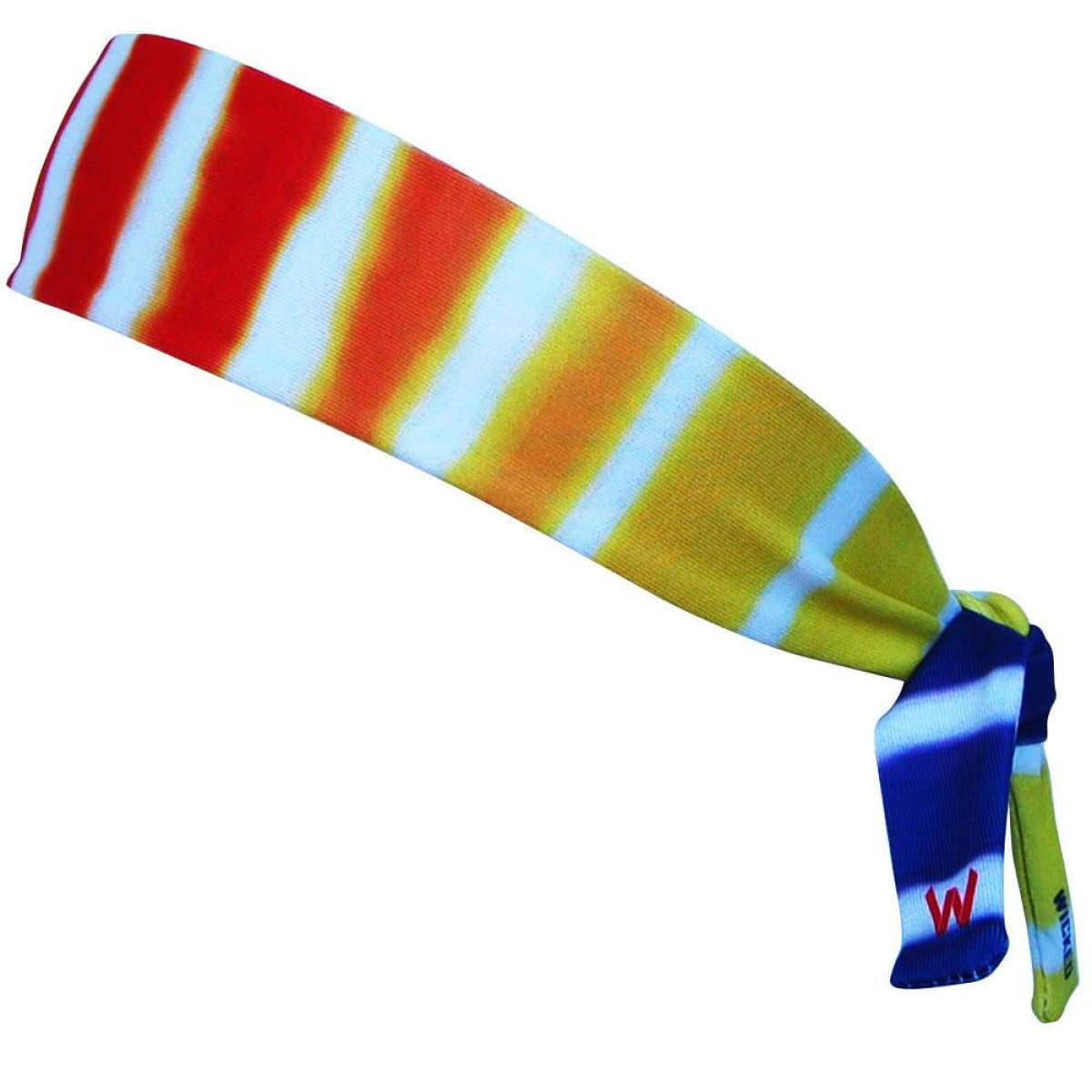 Tie Dye Stripes Elastic Tie Headband - Multi / One Size - Wicked Headbands