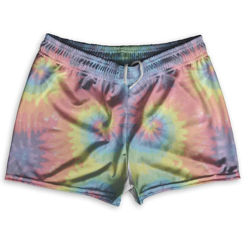 "Tie Dye Washed Out Shorty Short Gym Shorts 2.5""Inseam By Ultras Sportswear"