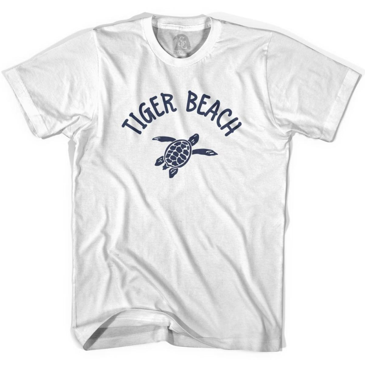 Tiger Beach Sea Turtle Youth Cotton T-shirt - White / Youth X-Small - Turtle T-shirts