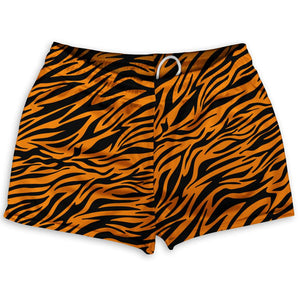 "Exotic Tiger King Pattern Shorty Short Gym Shorts 2.5"" Inseam by Ultras"
