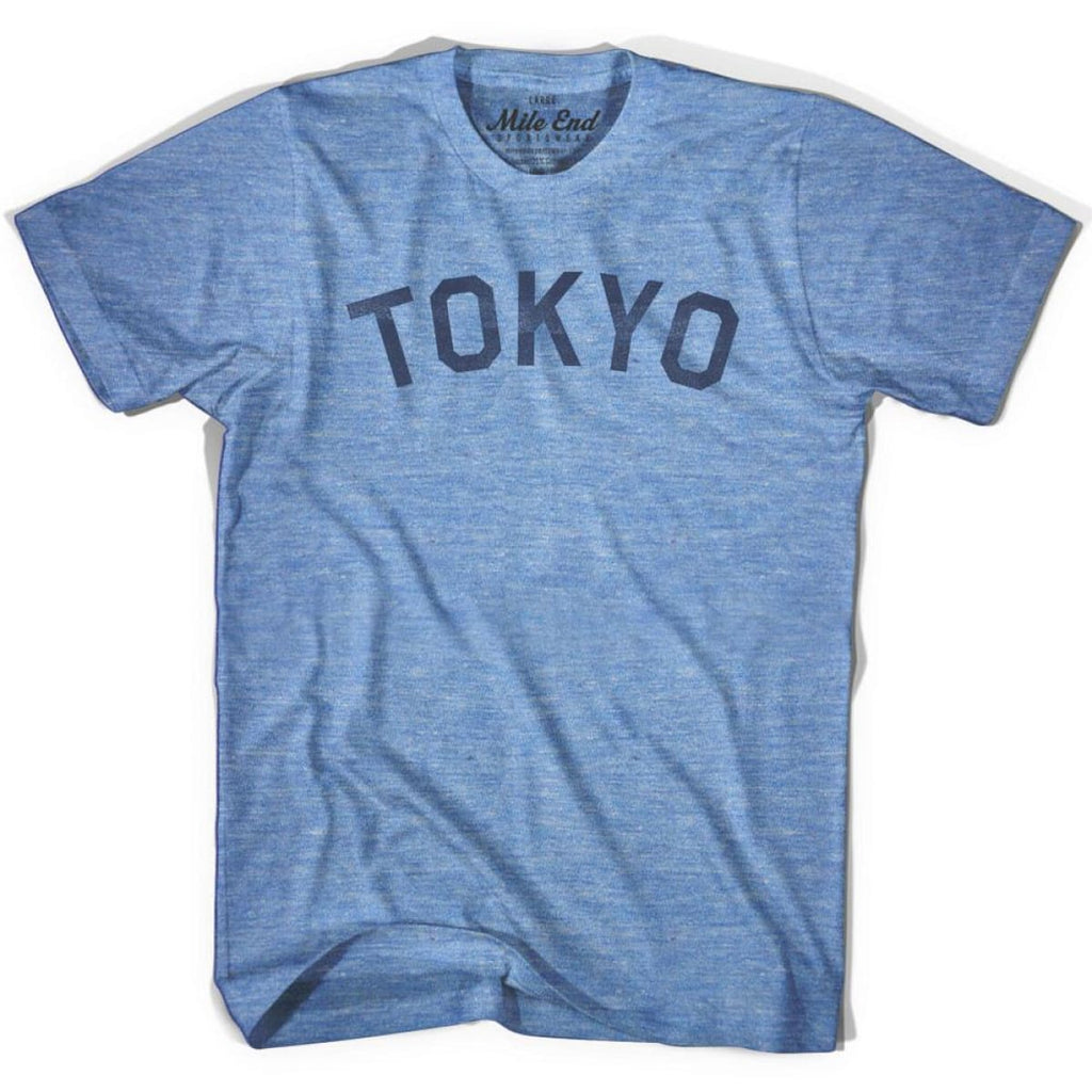 Tokyo City Vintage T-shirt - Athletic Blue / Adult X-Small - Mile End City