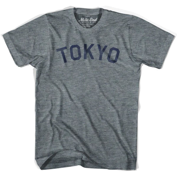 Tokyo City Vintage T-shirt - Athletic Grey / Adult X-Small - Mile End City