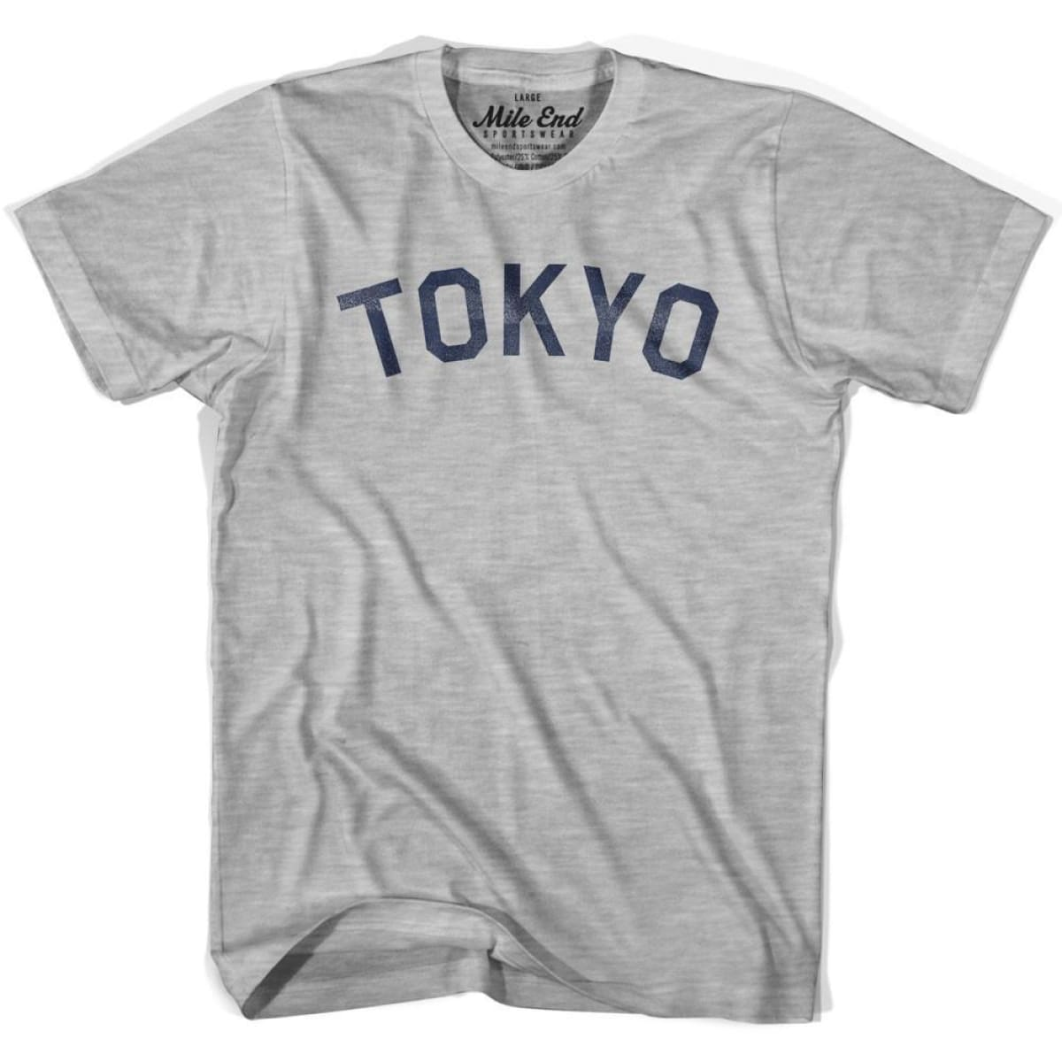 Tokyo City Vintage T-shirt - Grey Heather / Youth X-Small - Mile End City