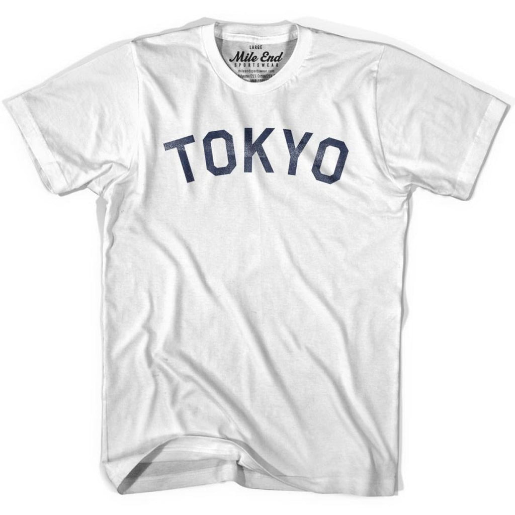 Tokyo City Vintage T-shirt - White / Youth X-Small - Mile End City