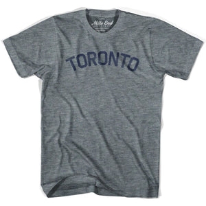 Toronto City Vintage T-shirt - Athletic Grey / Adult X-Small - Mile End City