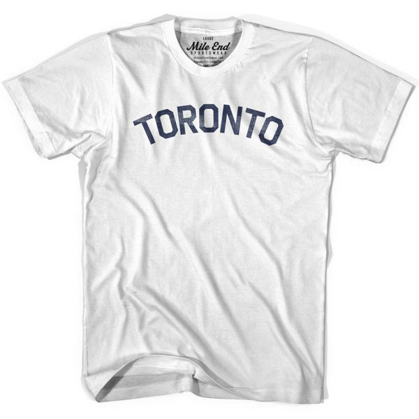 Toronto City Vintage T-shirt - White / Youth X-Small - Mile End City