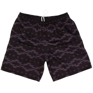 Tribal Stripes Athletic Fleece Sweatshorts - Black / Adult Small - Sweat Shorts