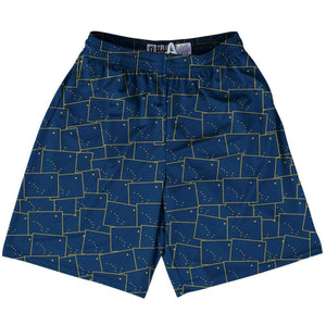 Tribe Alaska State Party Flags Lacrosse Shorts - Navy / Youth X-Small - Party Lacrosse Shorts