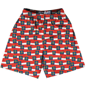 Tribe Georgia State Party Flags Lacrosse Shorts - Red Blue / Youth X-Small - Party Lacrosse Shorts