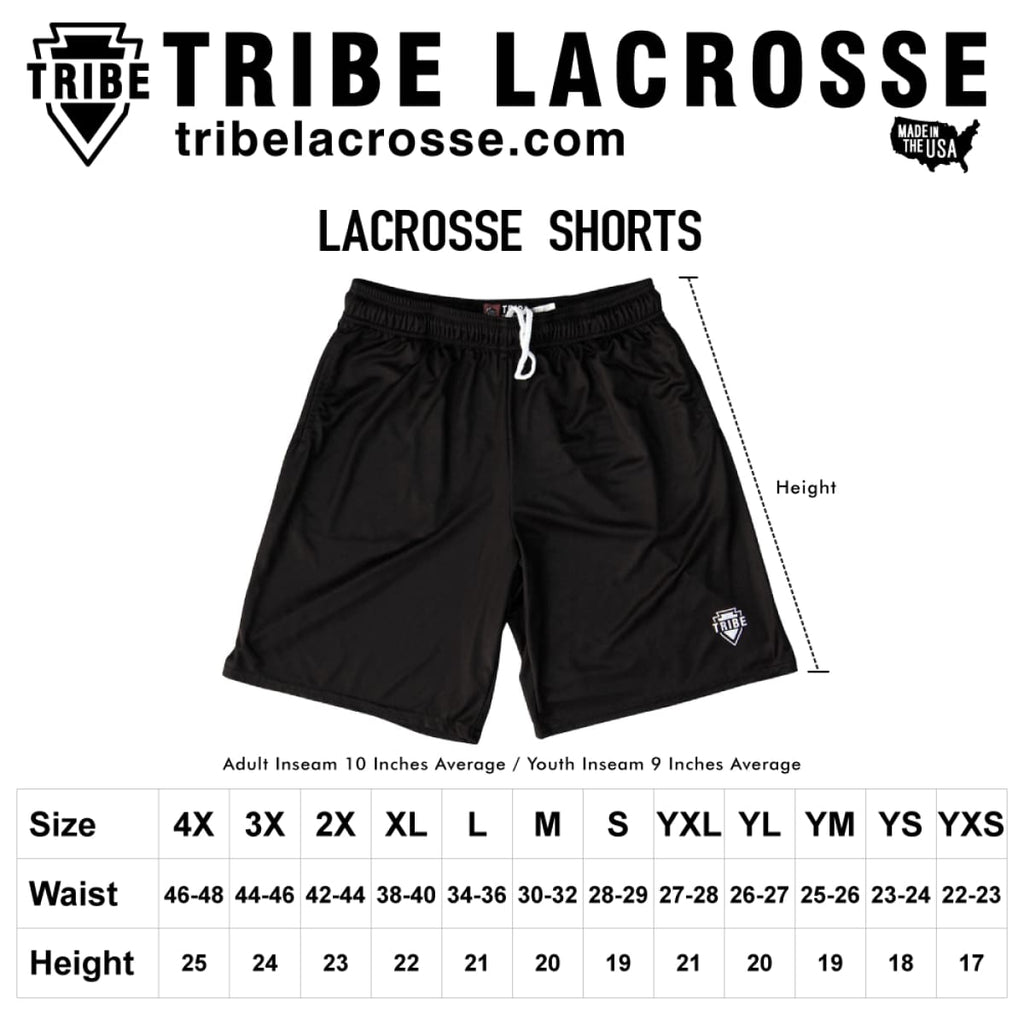 Tribe Vegas Gold Lacrosse Battle Shorts - Tribe Lacrosse Shorts