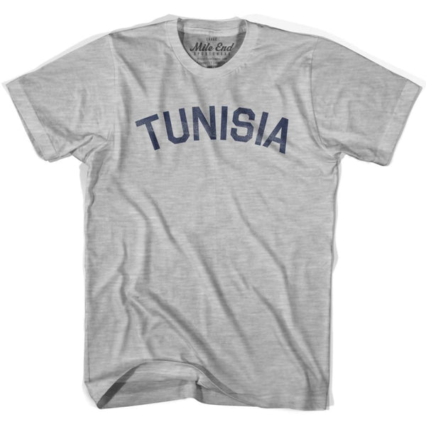 Tunisia City Vintage T-shirt - Grey Heather / Youth X-Small - Mile End City