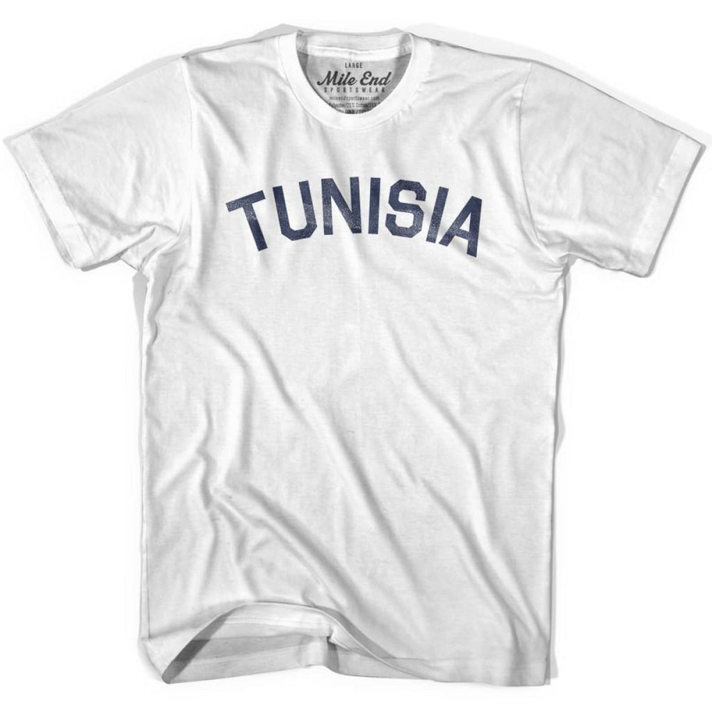 Tunisia City Vintage T-shirt - White / Youth X-Small - Mile End City