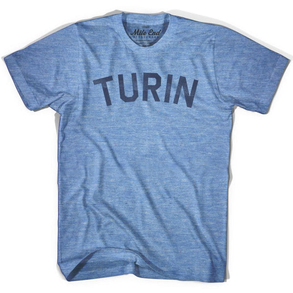 Turin City Vintage T-shirt - Athletic Blue / Adult X-Small - Mile End City