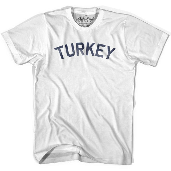 Turkey City Vintage T-shirt - White / Youth X-Small - Mile End City