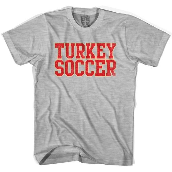Turkey Soccer Nations World Cup T-shirt - Grey Heather / Youth X-Small - Ultras Soccer T-shirts