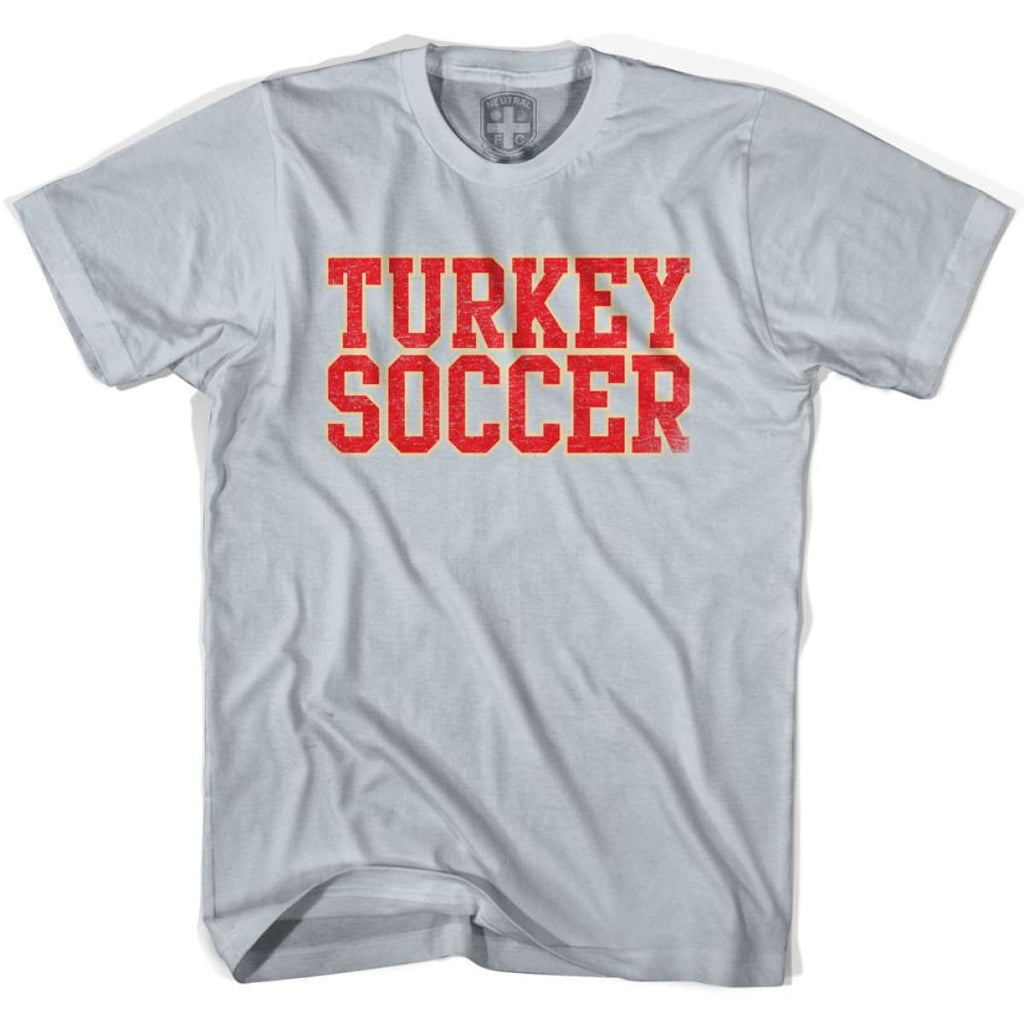 Turkey Soccer Nations World Cup T-shirt - Silver / Youth X-Small - Ultras Soccer T-shirts