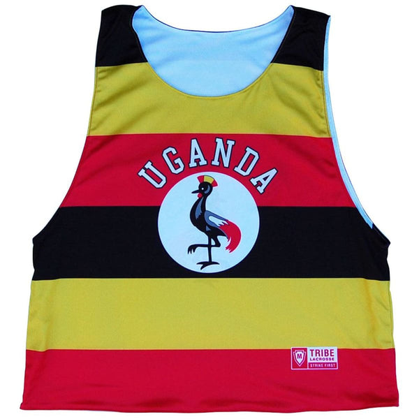 Uganda Reversible Lacrosse Pinnie - White / Youth X-Small / No - Graphic Lacrosse Pinnies