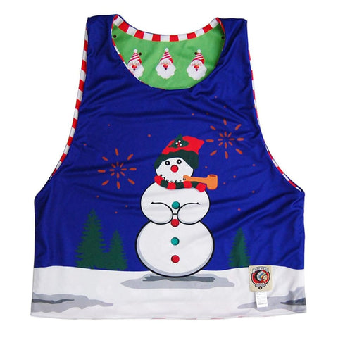 Ugly Christmas Lacrosse Pinnie - Graphic Mesh Lacrosse Pinnies