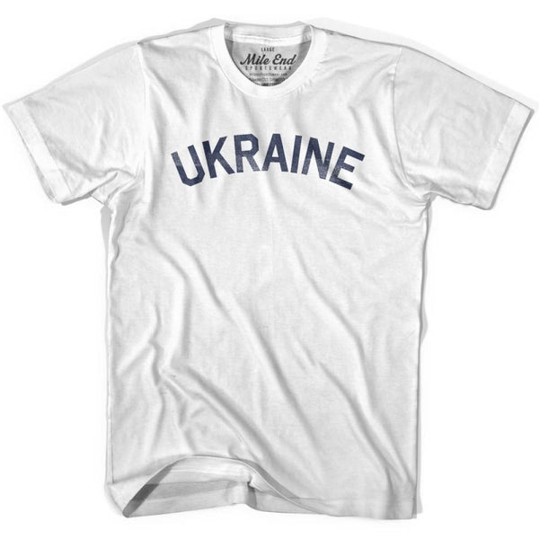 Ukraine City Vintage T-shirt - White / Youth X-Small - Mile End City