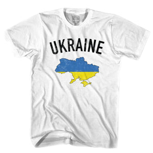 Ukraine Flag & Country T-shirt - White / Youth X-Small - Ultras Soccer T-shirts