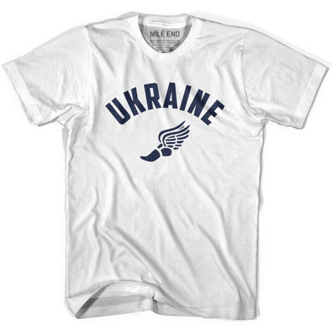 Ukraine Track T-shirt - White / Youth X-Small - Mile End Track