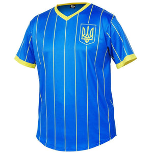 Ukraine Trident Soccer Jersey - Royal / Toddler 1 / No - Ultras Country Soccer Jerseys