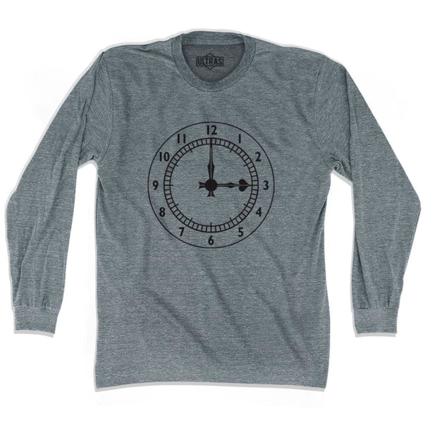 Ultras Arsenal Clock Soccer Long Sleeve T-shirt - Athletic Grey / Adult X-Small - Ultras Club Soccer T-shirt