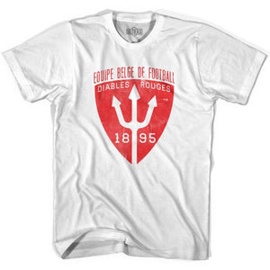 Ultras Belgium Diables Soccer T-shirt - White / Youth X-Small - Ultras Club Soccer T-shirt