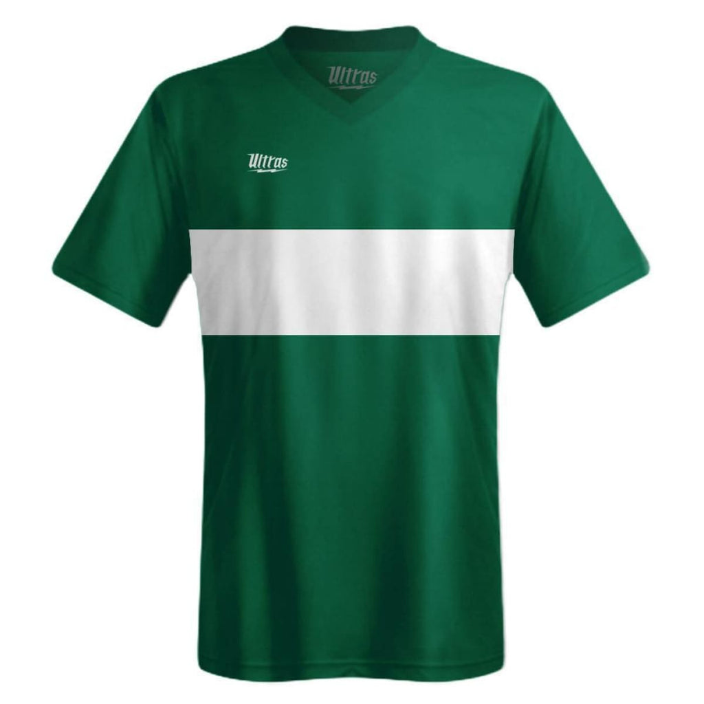 Ultras Boca Custom Team Soccer Jersey - Green-Hunter/White / Toddler 1 / No - Ultras Custom Team Soccer Jersey