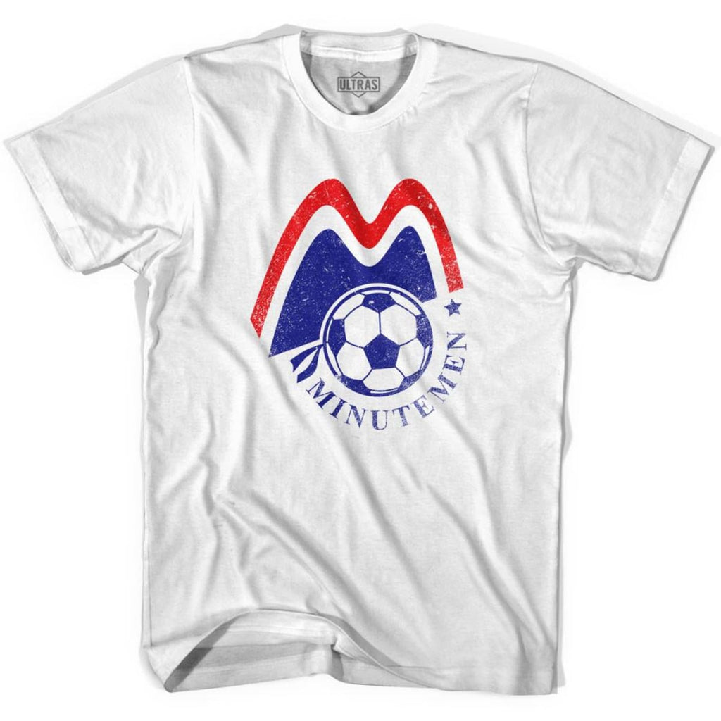 Ultras Boston Minutemen Soccer Ultras Soccer T-shirt - White / Youth X-Small - Ultras Club Soccer T-shirt