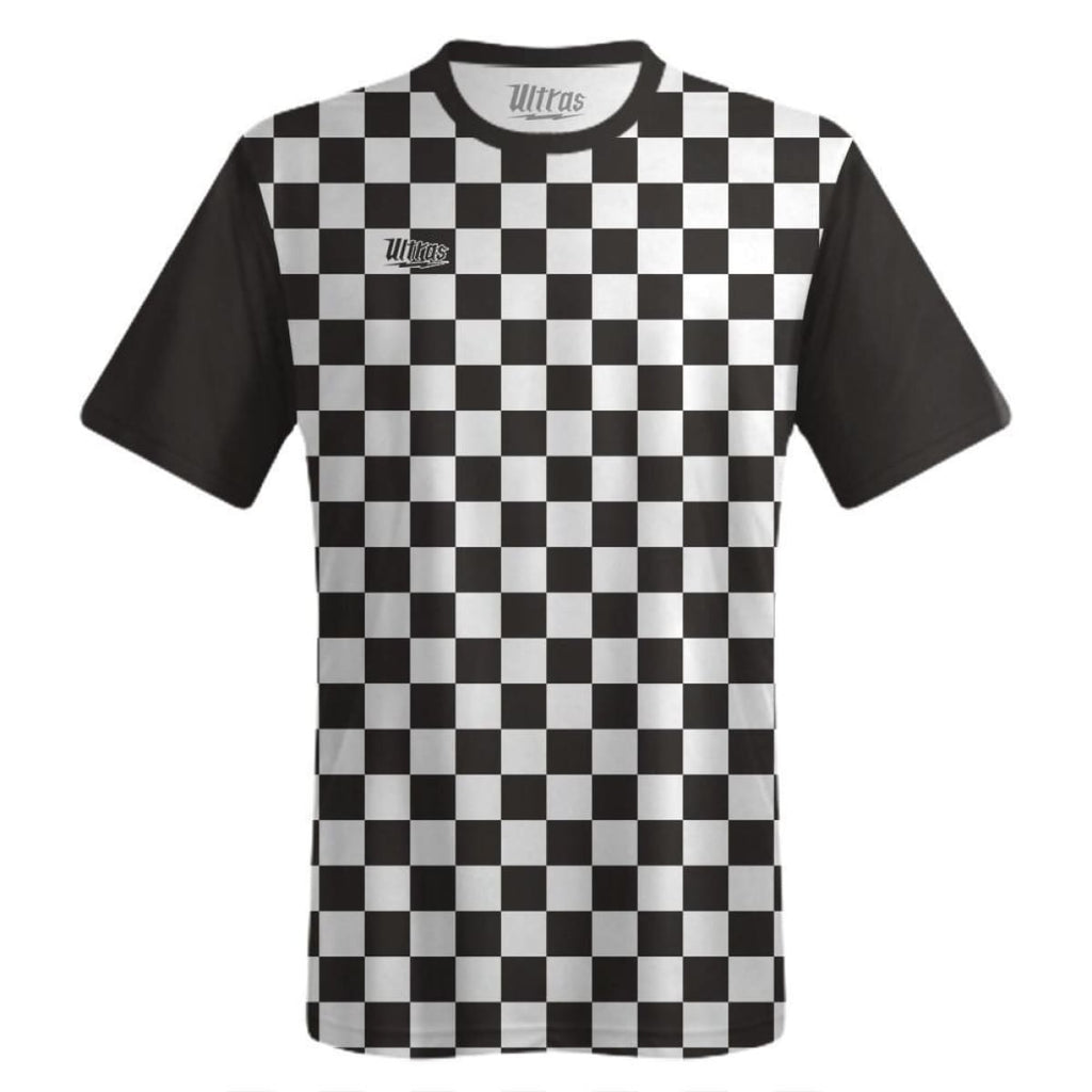 Ultras Custom Checkerboard Team Soccer Jersey - Black/White / Toddler 1 / No - Ultras Custom Team Soccer Jersey