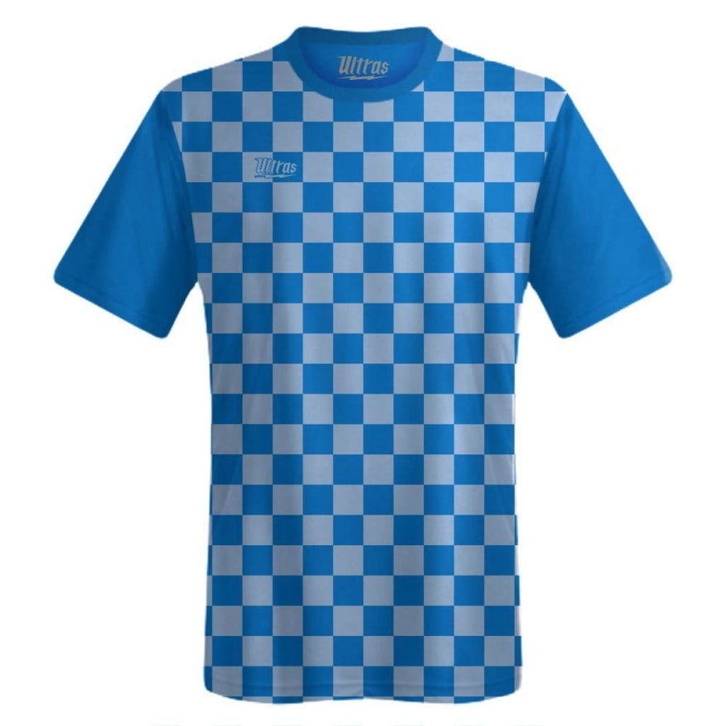 Ultras Custom Checkerboard Team Soccer Jersey - Royal/Blue-Carolina / Toddler 1 / No - Ultras Custom Team Soccer Jersey