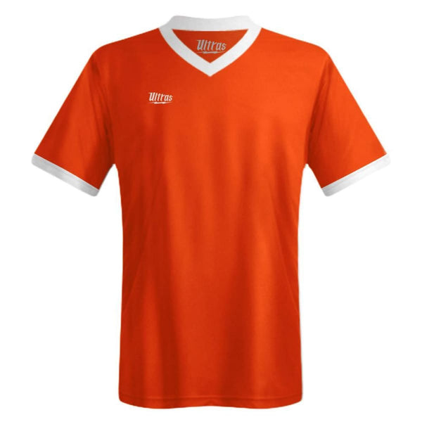 Ultras Custom Imact Team Soccer Jersey - Bright-Orange/White / Toddler 1 / No - Ultras Custom Team Soccer Jersey