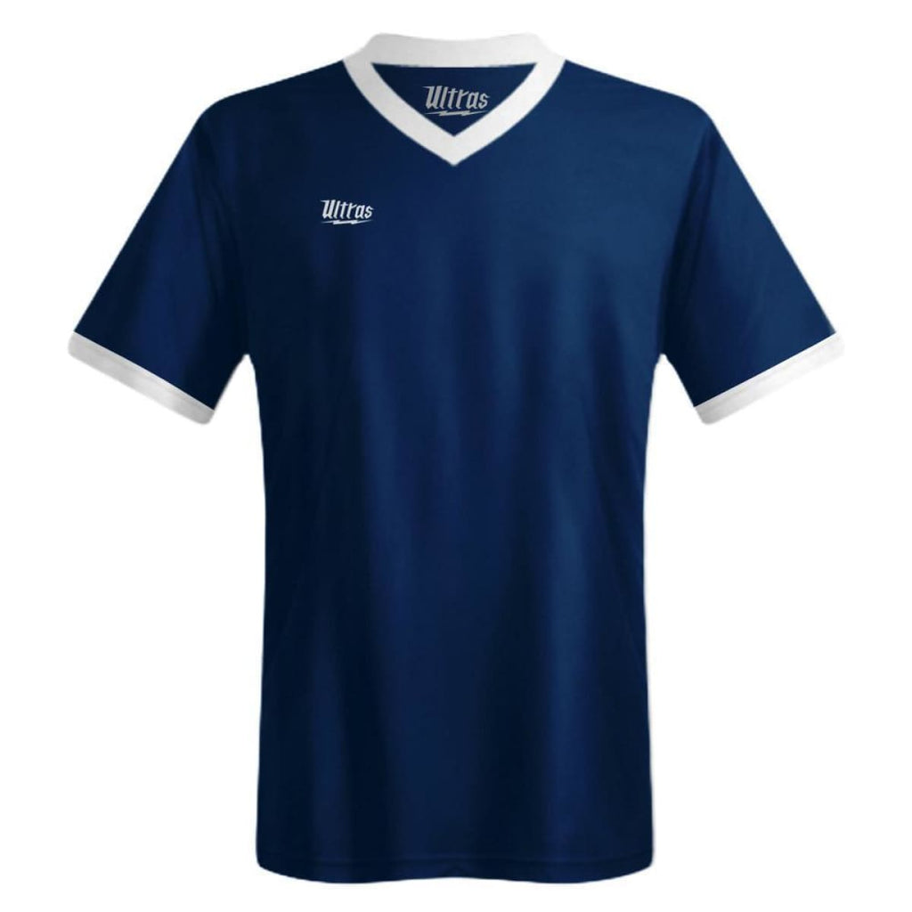Ultras Custom Imact Team Soccer Jersey - Navy/White / Toddler 1 / No - Ultras Custom Team Soccer Jersey
