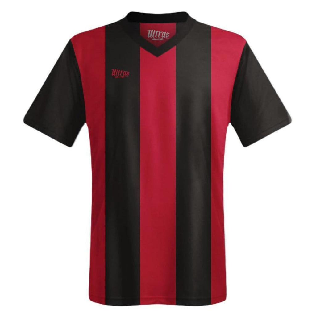 Ultras Custom San Siro Bold Team Soccer Jersey - Black/Dark-Red / Toddler 1 / No - Ultras Custom Team Soccer Jersey