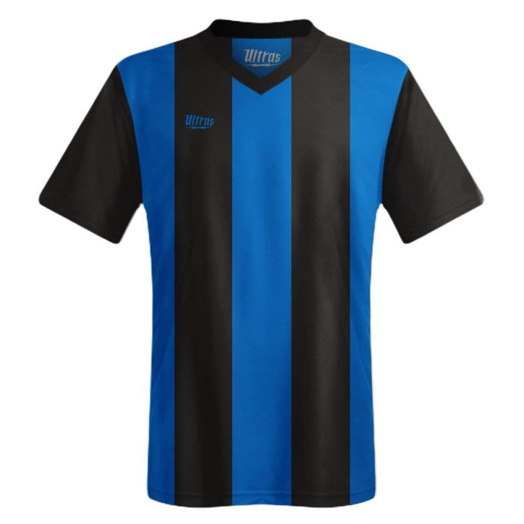 Ultras Custom San Siro Bold Team Soccer Jersey - Black/Royal / Toddler 1 / No - Ultras Custom Team Soccer Jersey