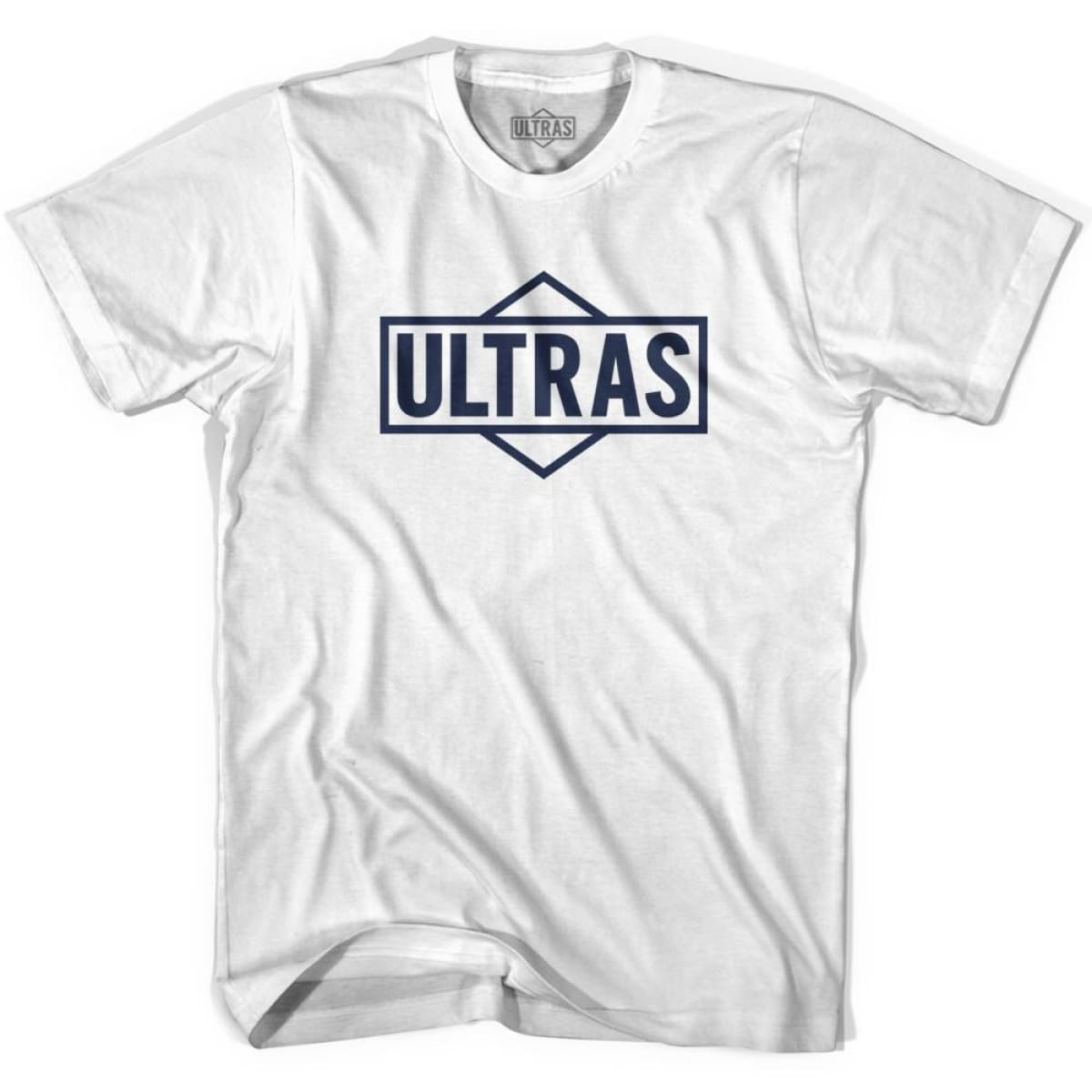 Ultras Diamond Logo Soccer T-shirt - White / Youth X-Small - Ultras Club Soccer T-shirt