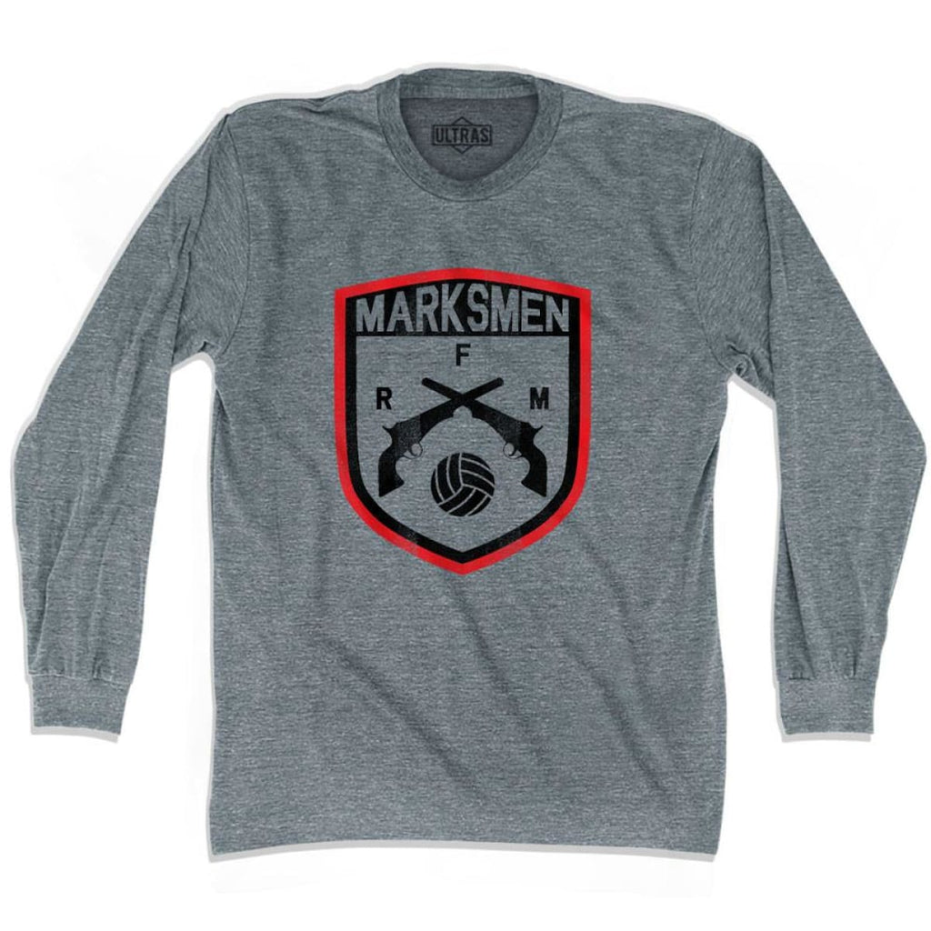 Ultras Fall River Marksmen Soccer Ultras Soccer Long Sleeve T-shirt - Athletic Grey / Adult X-Small - Ultras Club Soccer T-shirt