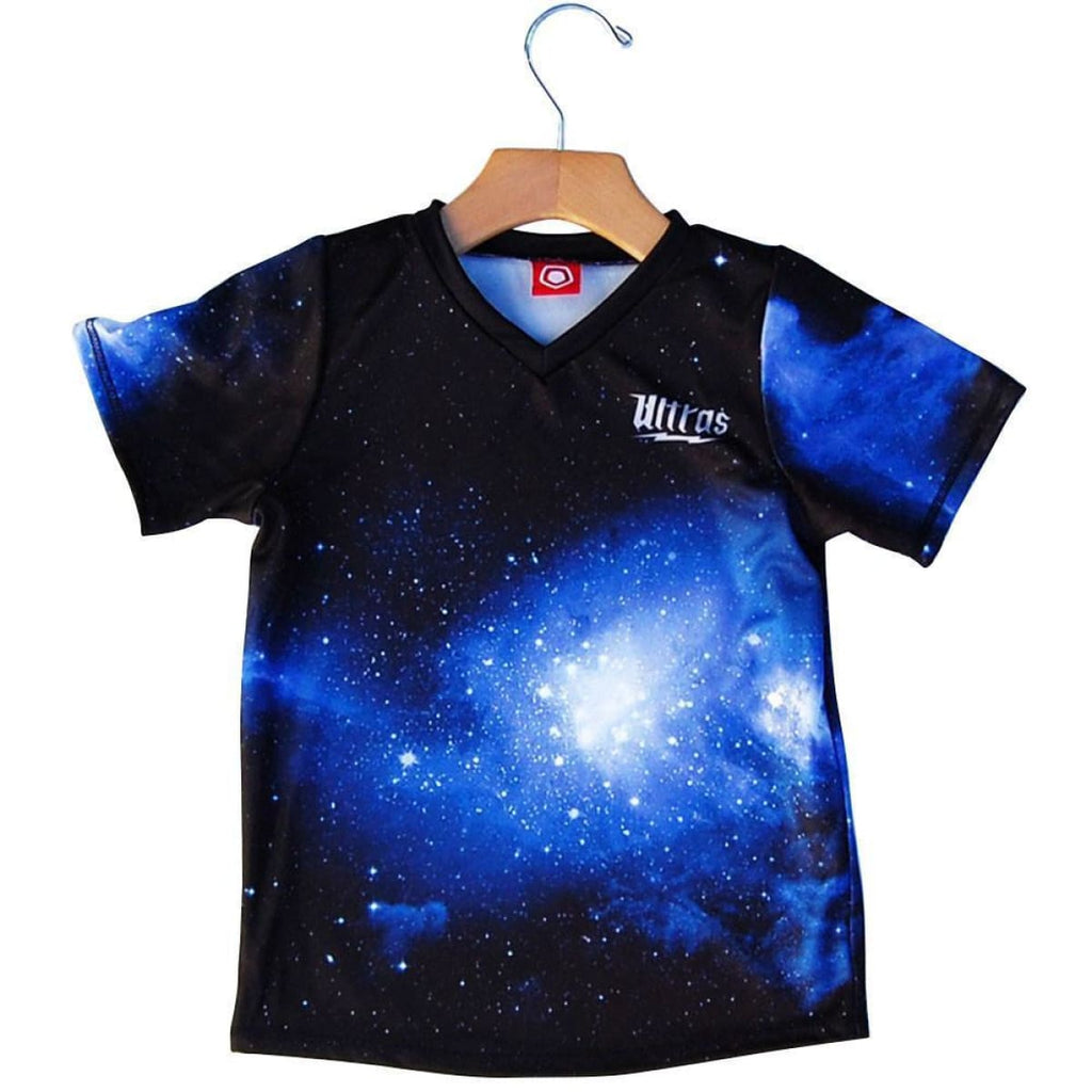 Ultras Galaxy Kids Soccer Jersey - Cyan / Toddler 1 / No - Ultras Soccer Jerseys
