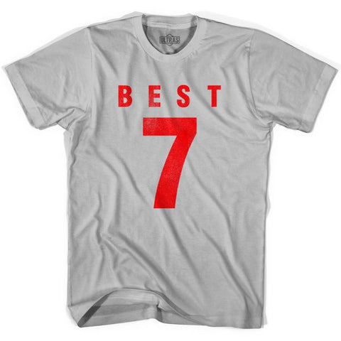 Ultras George Best 7 Legend Soccer T-shirt - Cool Grey / Adult Small - Ultras Club Soccer T-shirt