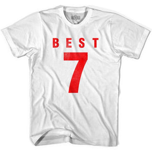 Ultras George Best 7 Legend Soccer T-shirt - White / Youth X-Small - Ultras Club Soccer T-shirt