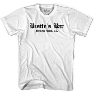 Ultras George Best Besties Bar Hermosa Beach Soccer T-shirt - White / Youth X-Small - Ultras Club Soccer T-shirt