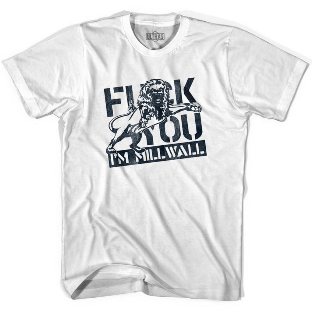 Ultras Im Millwall Soccer T-shirt - White / Youth X-Small - Ultras Club Soccer T-shirt