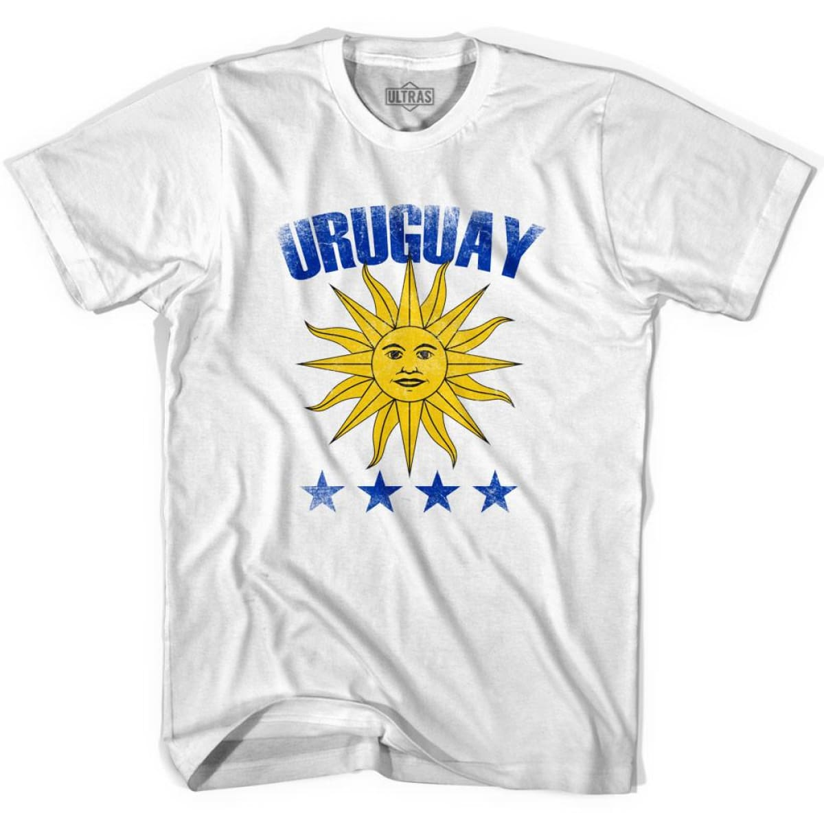 Ultras Uruguay 4 World Cups Ultras Soccer T-shirt - White / Youth X-Small - Ultras Club Soccer T-shirt