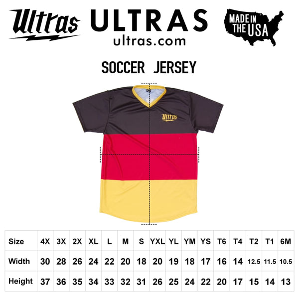 Ultras USA Red White and Blue Camo Sublimated Soccer Jersey - Ultras USA Soccer Jerseys
