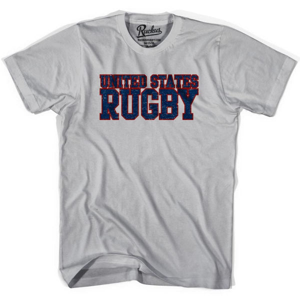 United States (Navy) Rugby Nations T-shirt - Cool Grey / Youth Small - Rugby T-shirt