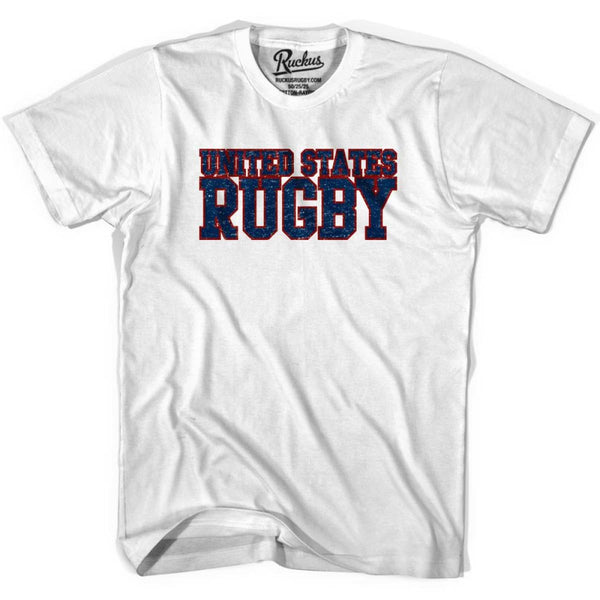 United States (Navy) Rugby Nations T-shirt - Cool Grey / Youth X-Small - Rugby T-shirt