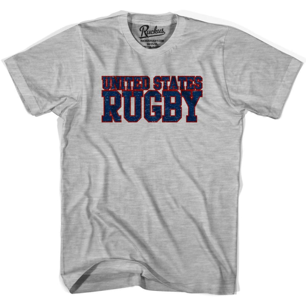 United States (Navy) Rugby Nations T-shirt - Heather Grey / Youth X-Small - Rugby T-shirt