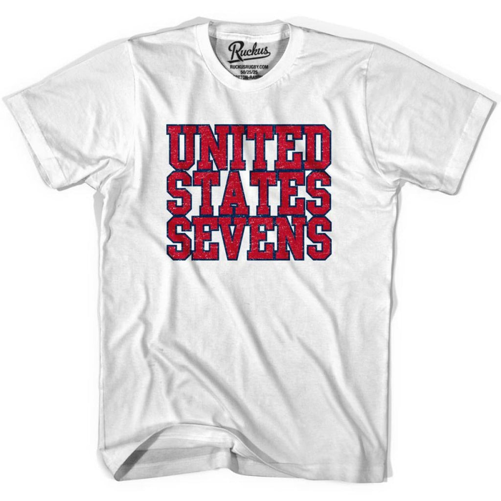 United States (Red) Seven Rugby Nations T-shirt - Cool Grey / Youth X-Small - Rugby T-shirt