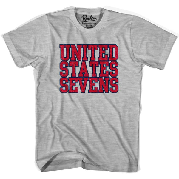 United States (Red) Seven Rugby Nations T-shirt - Heather Grey / Youth X-Small - Rugby T-shirt